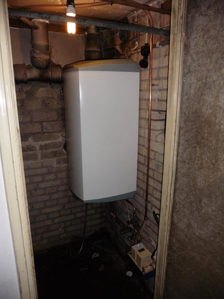Warm water ->boiler